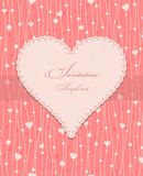Invitation card with a heart Royalty Free Stock Photos