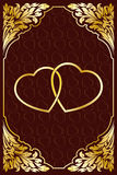 Invitation card with Heart Royalty Free Stock Photography