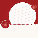 Invitation card with hearts Royalty Free Stock Image