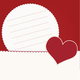 Invitation card with hearts Stock Images