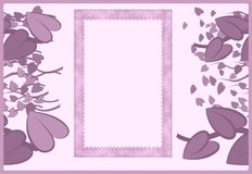 Invitation card with hearts Royalty Free Stock Photo
