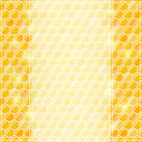 Invitation Card with Honey Comb and Place for Text Royalty Free Stock Image