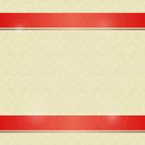 Invitation Card with Horizontal Red Line Decoration Royalty Free Stock Photos