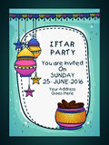 Invitation Card for Iftar Party celebration. Royalty Free Stock Image