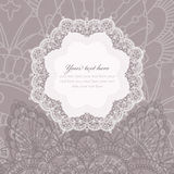 Invitation card with lace frame Royalty Free Stock Images