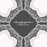 Invitation card with lace frame Stock Photo
