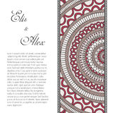 Invitation card with lace ornament Stock Photos
