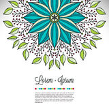 Invitation card with lace ornament Royalty Free Stock Image