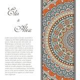 Invitation card with lace ornament Stock Photo
