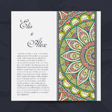 Invitation card with lace ornament Royalty Free Stock Images