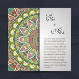 Invitation card with lace ornament Royalty Free Stock Photography