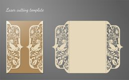Invitation card. Laser cutting template. Vector illustration Royalty Free Stock Photography