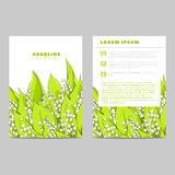 Invitation card with lilies of the valley Stock Photo