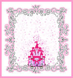 Invitation card with Magic Fairy Tale Princess Stock Images