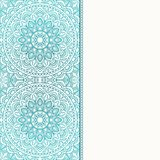 Invitation card with mandala. Royalty Free Stock Photos