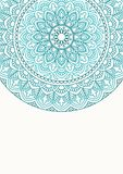 Invitation card with mandala. Stock Images