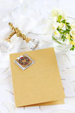Invitation card  or menu for wedding Royalty Free Stock Photo