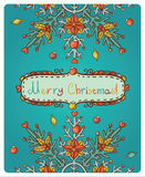 Invitation card for Merry Christmas Stock Photos