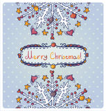 Invitation card for Merry Christmas Royalty Free Stock Images