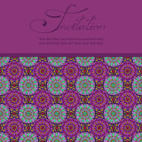 Invitation or card with Moroccan pattern Stock Images