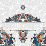 Invitation card with neat ethnic background, royal. Ornamental design element for packing, web decoration, book cover, brochure and other, vector illustration Royalty Free Stock Photos