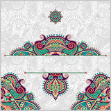 Invitation card with neat ethnic background Stock Images