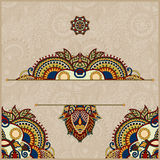 Invitation card with neat ethnic background Royalty Free Stock Photos