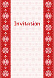 Invitation card with northern ornament Stock Image