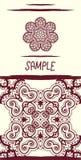 Invitation card in oriental tribal style. Mandala Stock Image