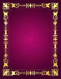 Invitation card with ornamental frame and backgrou Royalty Free Stock Photos