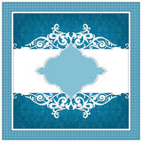 Invitation card with ornaments and frame Royalty Free Stock Photos