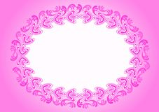 Invitation card oval border frame Royalty Free Stock Images