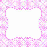 Invitation card pink border frame Royalty Free Stock Photography
