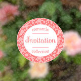 Invitation card with pink roses.  EPS,JPG. Invitation card with pink roses. Romantic template with rose garden. Poster with romantic floral landscape. Wedding Royalty Free Stock Images