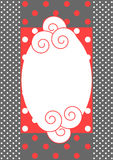 Invitation card with polka dots pattern Stock Images
