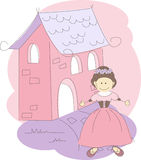 Invitation card with princess Stock Image