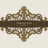 Invitation card with Renaissance Royal classic ornaments Royalty Free Stock Image