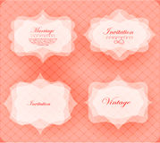 Invitation card in retro style Royalty Free Stock Photos