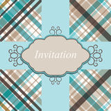 Invitation card retro vector Stock Photo