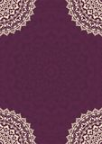 Invitation card with round Indian ornament. Stock Photos