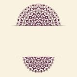 Invitation card with round Indian ornament. Stock Images