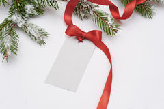 Invitation card sale for Christmas with a red bow Stock Photo