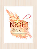 Invitation card for saturday night party. Royalty Free Stock Images