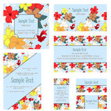 Invitation Card Set Royalty Free Stock Image