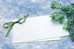 Invitation card on snow Royalty Free Stock Photography