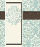 Invitation card style damask Stock Image