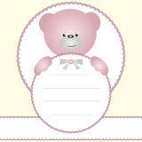 Invitation card with teddy bear Stock Photos