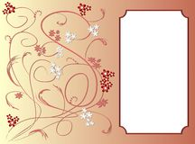 Invitation card template with art deco floral patterns Royalty Free Stock Images