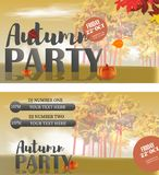 Autumn Invitation card templates design for a party. Invitation card templates, invitation card mockup, invitation design, invitation information. Autumn royalty free illustration