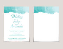 invitation card templates with watercolor elements .Vect Stock Image